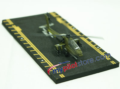 Apache AH-64 Helicopter Hot Wings Die-Cast Aircraft