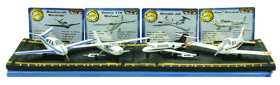 Hot Wings Gift Set - Set of 4 Die-Cast Civilian Airplanes