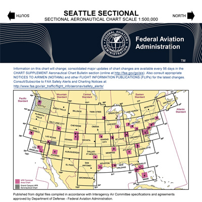 VFR: SEATTLE Sectional Chart