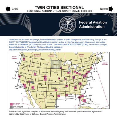 VFR: TWIN CITIES Sectional Chart