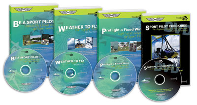 Fixed Wing Sport Pilot Kit (3 DVDs + Log)