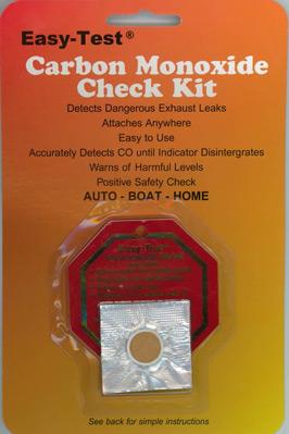 Easy-test Carbon Monoxide Detector