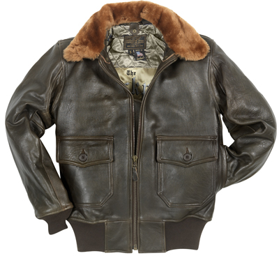 The Cockpit Navy G-1 Antique Lamb Leather Jacket