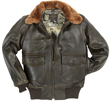 The Cockpit Navy G-1 Antique Lamb Leather Jacket (Dark Brown)