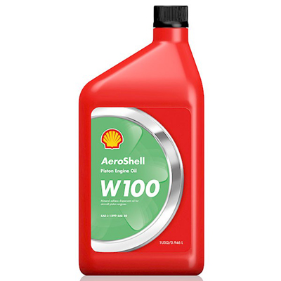 AeroShell W100 SAE 50 Aviation Oil - 12 Quart Case