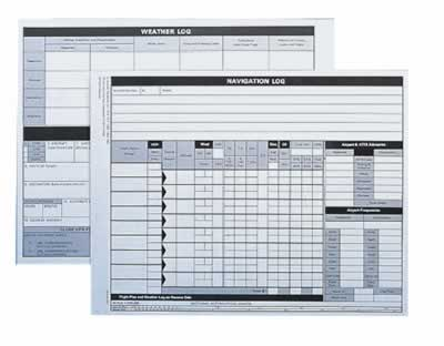 Jeppesen VFR Navigation Log Pad