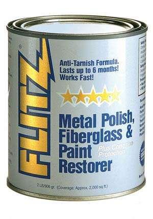 Flitz Paste Metal Polish, Fiberglass & Paint Restorer (2 Lb. Can)