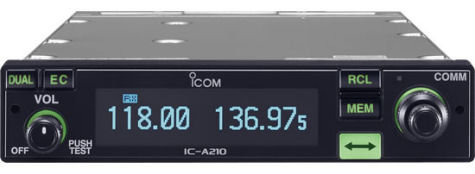 Icom IC-A210 Panel Mount VHF Air Band Transceiver