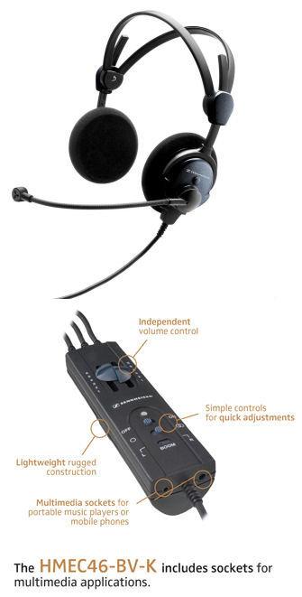 REFURB: Sennheiser HMEC-46-BV-K ANR Headset