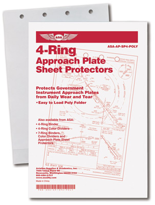 4-Ring Approach Plate Sheet Protectors - 10 Pack