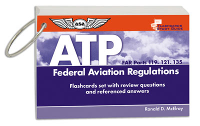 FAR Flashcards for ATP (Parts 119, 121, and 135)