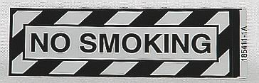 NO SMOKING Airframe Placard