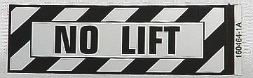 NO LIFT Airframe Placard
