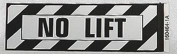 No Lift Airframe Placard
