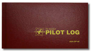 ASA Pilot Log Book, Burgundy