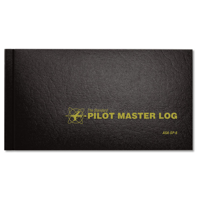 ASA Pilot Master Log Book, Black