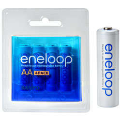 Sanyo Eneloop 4 Pack Aa Nimh Pre-charged Rechargeable Batteries
