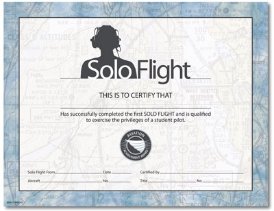 first flight certificate template first solo certificate