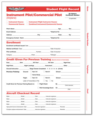 Student Flight Records - Instrument & Commercial Pilot