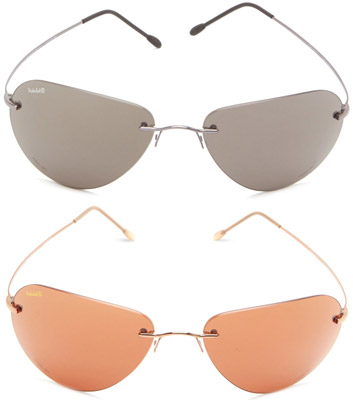 VedaloHD Carbone Rimless Small Aviator Sunglasses