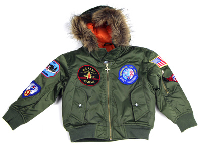 Youth MA-1 Hooded Flight Jacket