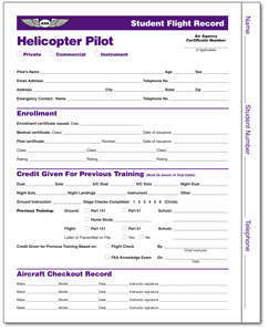 Student Flight Records - Helicopter Pilot