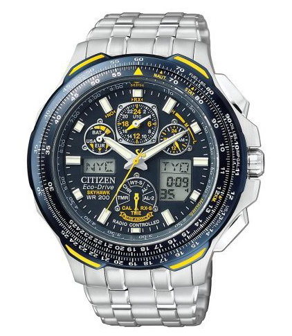 citizen sky hawk blue angels titanium