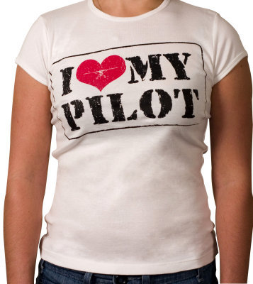 I Love My Pilot Ladies T-Shirt
