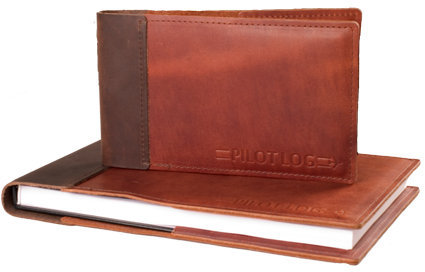 Leather Pilot Logbook Cover for ASA SP-30 Logbook