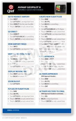 Avmap Geopilot Ii / Ii Plus Single Page Qref Card