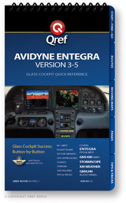 Avidyne Entegra (ver. 3-5) Multi-page Qref Book