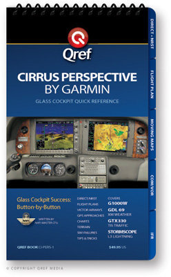Cirrus Perspective by Garmin Multi-Page Qref Book