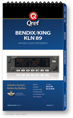 Bendix/King KLN 89 Multi-Page Qref Book