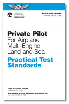 Practical Test Standards: Private Pilot Airplane (multi-engine Land)