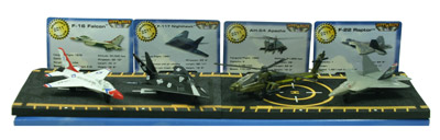 Hot Wings Gift Set - Set Of 4 Die-cast Military Aircraft