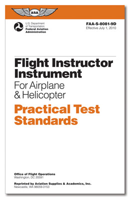 Practical Test Standards: CFI Instrument - Airplane and Helicopter
