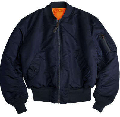 Alpha MA-1 Nylon Flight Jacket - Replica Blue
