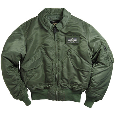 Alpha CWU-45P Nylon Flight Jacket - Sage Green - MyPilotStore.com c2fcc1b7f38