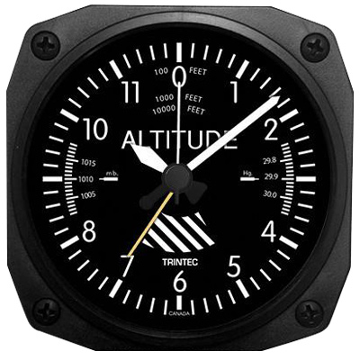 Altimeter Desk Model Alarm Clock