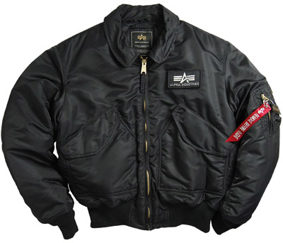 Alpha Cwu-45p Nylon Flight Jacket - Black