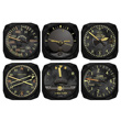 Vintage Airplane Instrument Coasters - Set of 6
