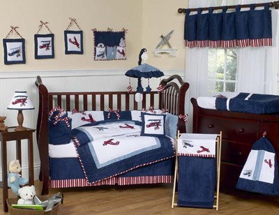 Aviator Crib Bedding Set - 9 piece