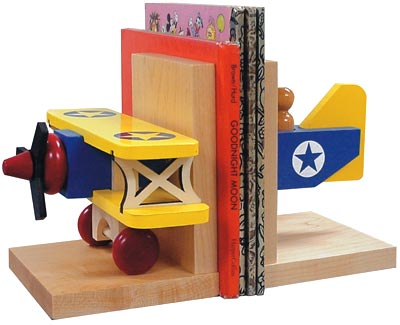 Biplane Bookends