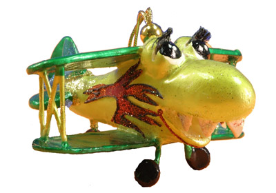 Plane Trouble Ornament - Green