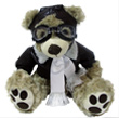 Stuffed Pilot Bear - 14 inch