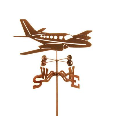 Twin Engine Airplane Weathervane
