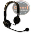 Comm1 Stereo Computer Headset w/Boom Microphone