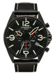 Torgoen T16 Watch - Black Leather, Black Face (T16101)