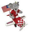 Mascot Airplane Ornament - Alabama Crimson Tide
