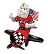 Mascot Airplane Ornament - Georgia Bulldogs
